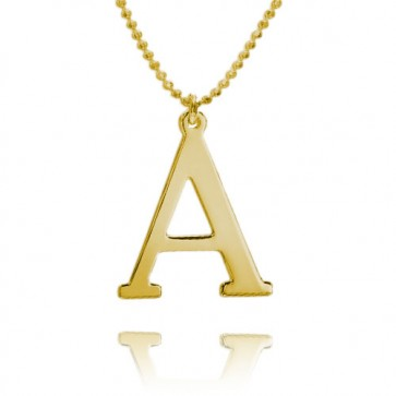Personalized Single Letter Necklace in Gold Plated