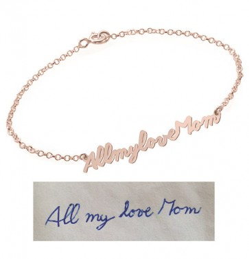 Customized Signature Bracelet in Rose Gold Plated