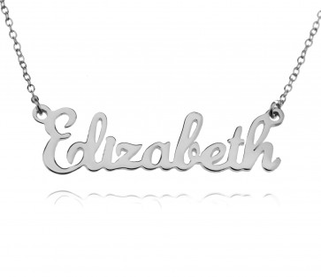Sterling Silver Custom Classic Name Necklace