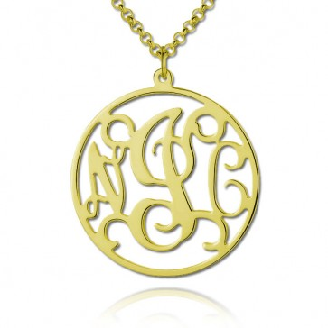 18K Gold Classic Monogram Necklace