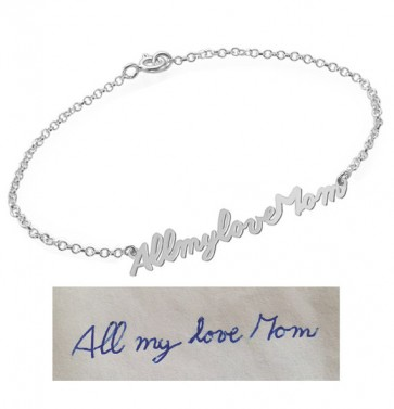 Personalized Signature Bracelet in Sterling Silver