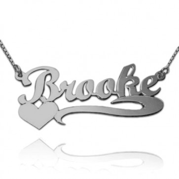 Personalized Heart Silver Name Necklace