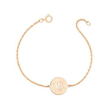 Rose Gold Plated Bracelet  Engraved Monogram