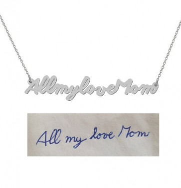 Cut Out Signature Necklace in Sterling Silver