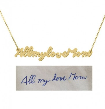 Cut Out Signature Necklace in Gold Plated