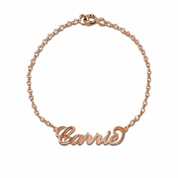Personalized Name Bracelet  in Rose Gold Plated