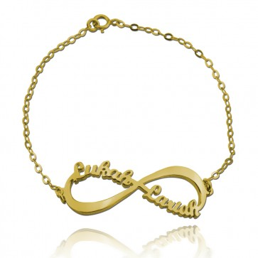 Personalized Infinity Name Bracelet in Gold Plated