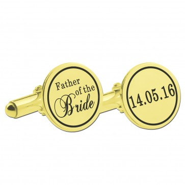 Rose Gold Personalized Father of the Bride Cufflinks