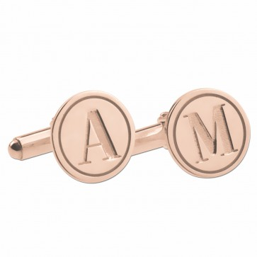 Rose Gold Plated Engarved Letter Cufflinks