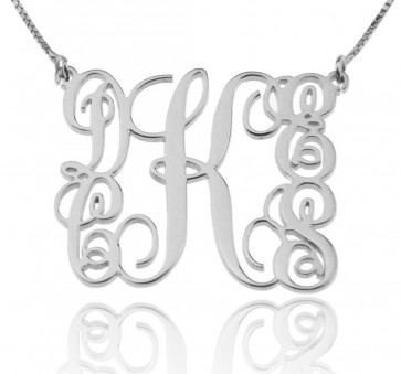 Sterling Silver Customized Monogram Necklace With 5 Initials