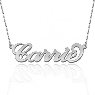 Carrie Style Name  Necklace in Sterling Silver