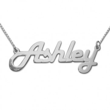 Retro Stylish Personalized Name Necklace In Sterling Silver