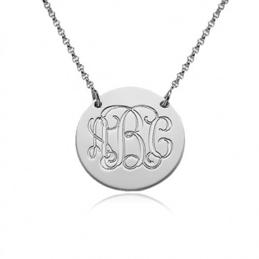 Sterling Silver Monogram Initials Necklace