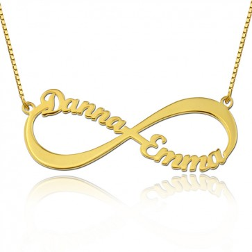 Gold Infinity Necklace With Two Names