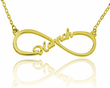 Infinity Name Necklace in Gold Plated