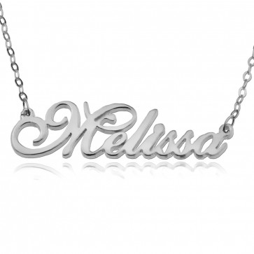 Sterling Silver Custom Cursive Name Necklace