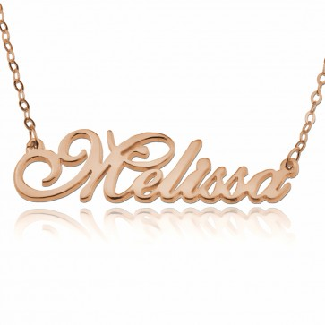 Rose Gold Presto Script Name Necklace