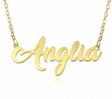 Personalized Name Necklace With Any Name in Gold Plated
