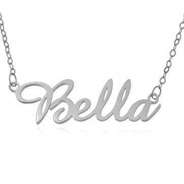 Sterling Silver Amazone Script Name Necklace