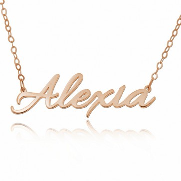 Rose Gold Allura Style Name Necklace