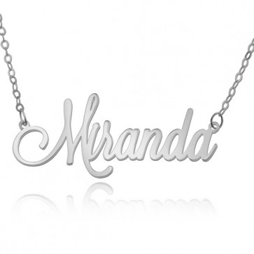 Customized Tiny Name Necklace In Sterling Silver