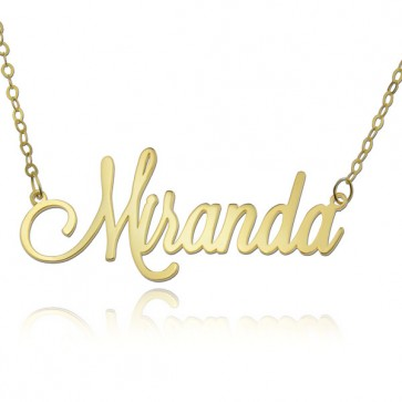 18k Gold Personalized Tiny Name Necklace