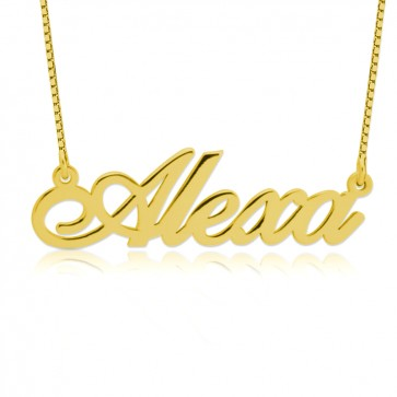 Classic Name Necklace in Gold Plated