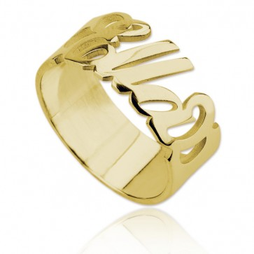 Personlized Name Ring in Gold Plated