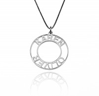 Sterling Silver Circle Name Necklace