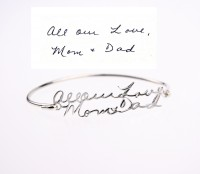 Personalized  Handwriting Bangle in Sterling Silver
