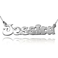 Sterling Silver Comic Font Name Necklace Kids