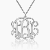 Sterling Silver Taylor Swift Style Monogram Necklace