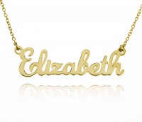 Custom Script Name Necklace in Gold