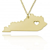 Personalized Kentucky State Necklace in Gold Plated