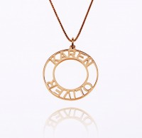 Rose Gold Customized Circle Name Necklace