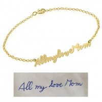 Customized Signature Bracelet in Gold Plated