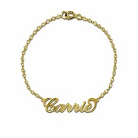 Personalized Name Bracelet  in Gold Plated