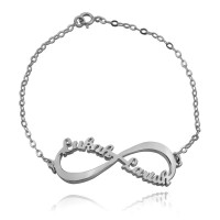 Personalized Infinity Name Bracelet in Sterling Silver