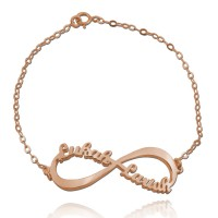 Personalized Infinity Name Bracelet in Rose Gold Plated