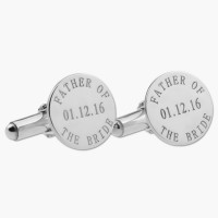 Father of the Bride Cufflinks in Silver