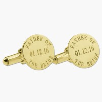 Father of the Bride Cufflinks in Gold Plated