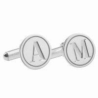 Silver Engarved Letter Cufflinks