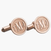 Personalized Rose Gold  Initial Monogram Cufflinks