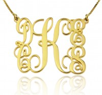 18k Gold Family Monogram Necklace With 5 Initials