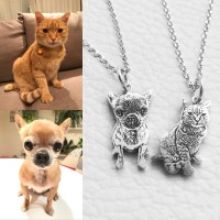 925 Sterling Silver Personalized Pet Picture Necklace