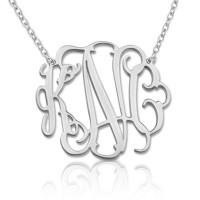 Sterling Silver Stylish Monogram Necklace