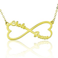 Personalized Infinity Heart  Pendant Necklace