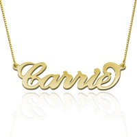 Carrie Style Name  Necklace in Gold plated