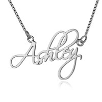 Personalized Script Name Necklace In Silver