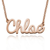 Rose Gold Plated Personalized Cursive Name Necklace